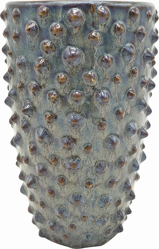 PRESENT TIME Sada 3 ks Tmavošedá keramická váza Spotted veľká - zl'ava 20% (VEMZUDNI20)