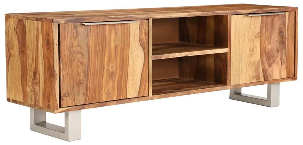 vidaXL TV stolík, sheeshamové drevo s medovým odtieňom 118x30x40 cm
