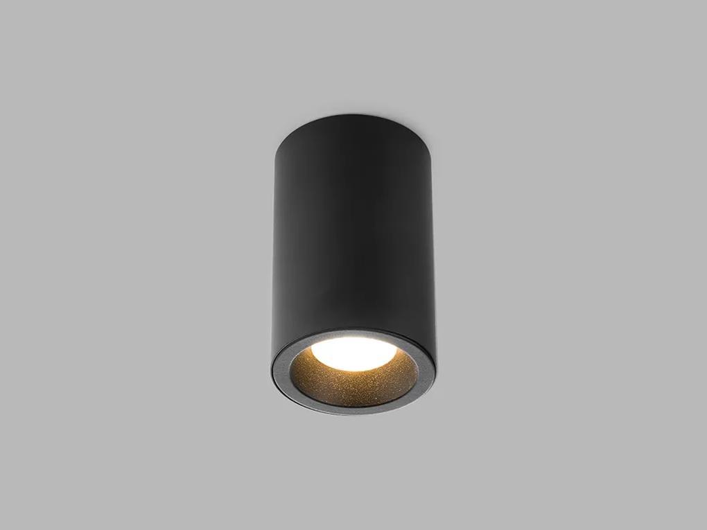 LED2 1150533 TUBUS B stropné bodové povrchové svietidlo 84,5mm 9W/550lm 3000K čierna