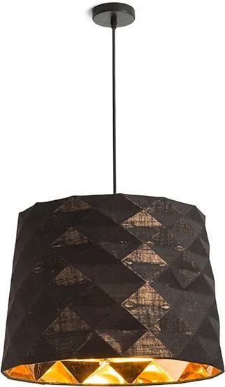 RENDL R13358 FLAMENCO závesné svietidlo, dekoratívne čierna medená fólia