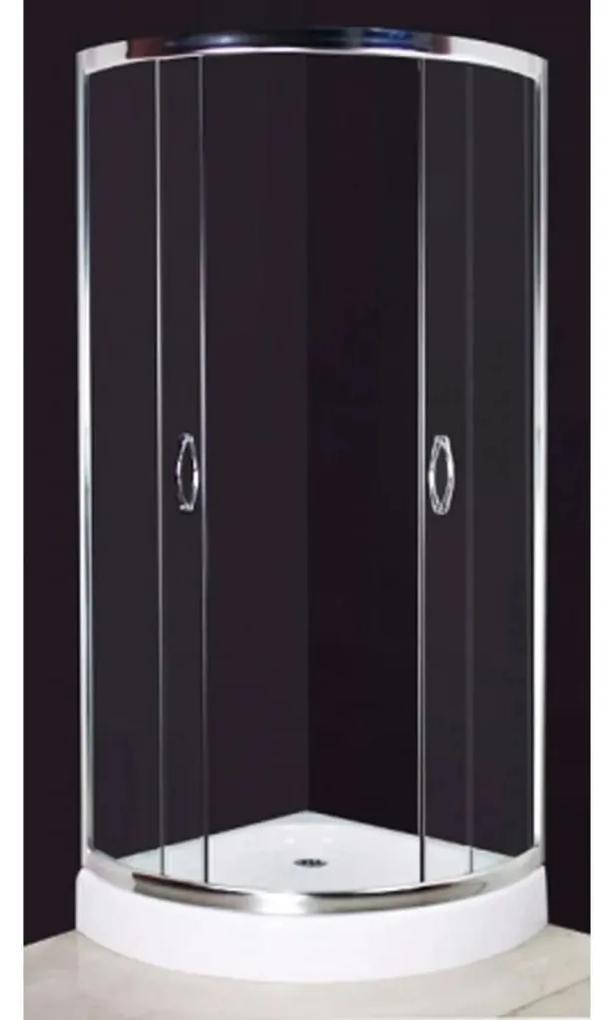 Sprchovací kút 80 x 80 cm, zaoblený