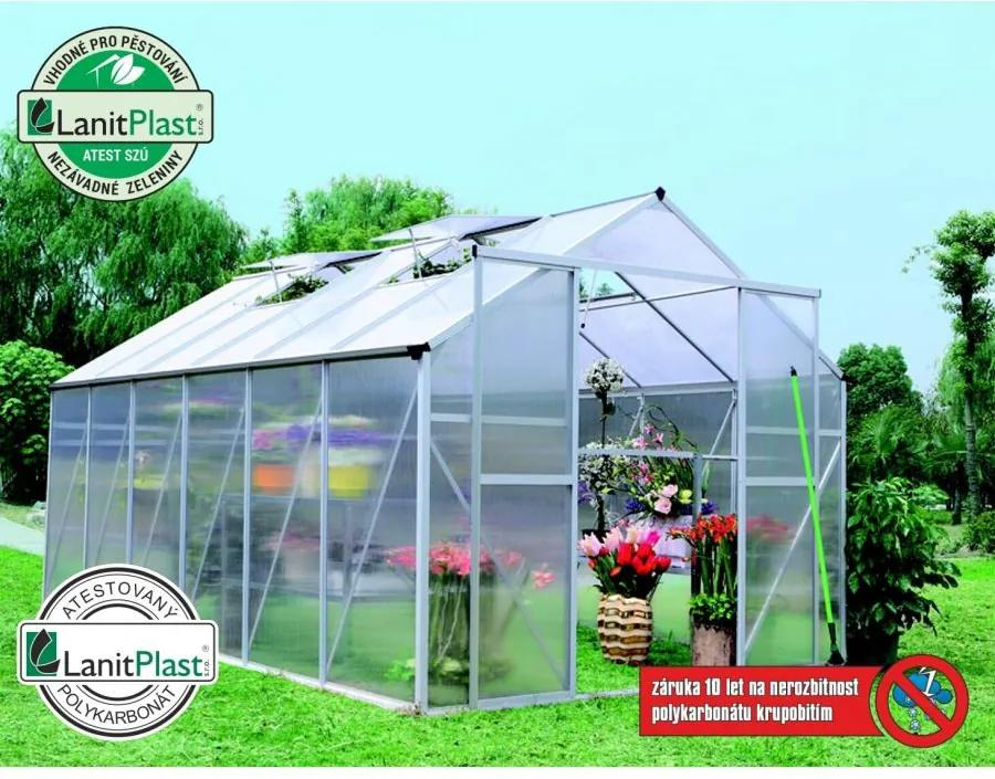 LANIT PLAST - skleník LANITPLAST PLUGIN 8x14 strieborný LG520