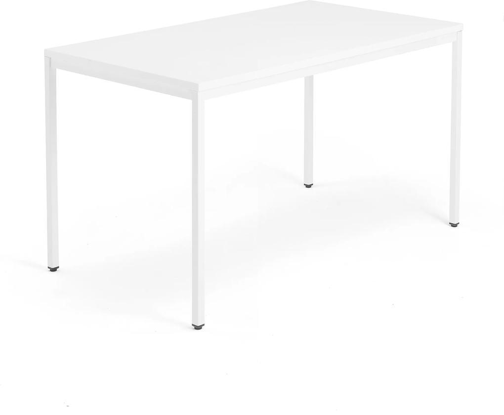Kancelársky pracovný stôl Modulus, 1400x800 mm, biela/biela
