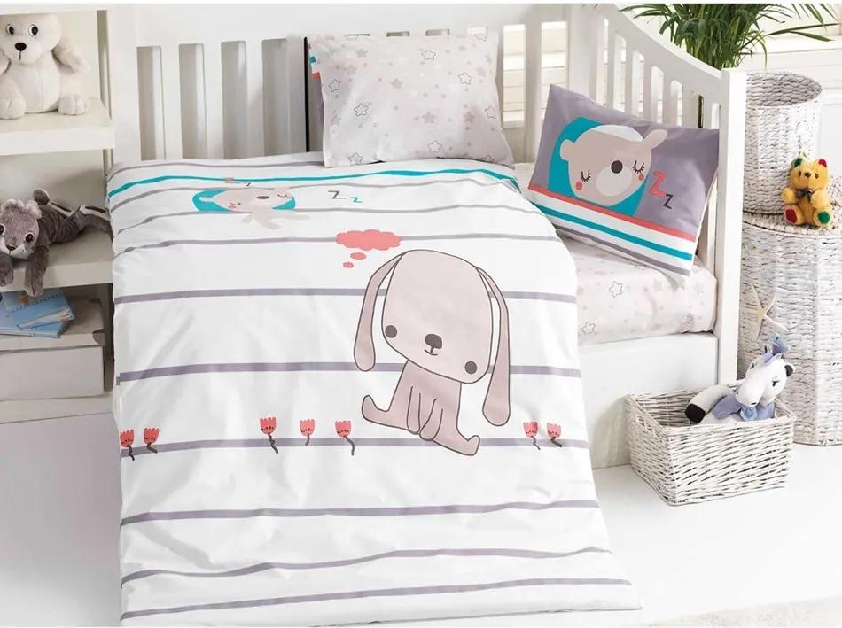 BedTex Detské bavlnené obliečky do postieľky Sweety, 100 x 135 cm, 40 x 60 cm