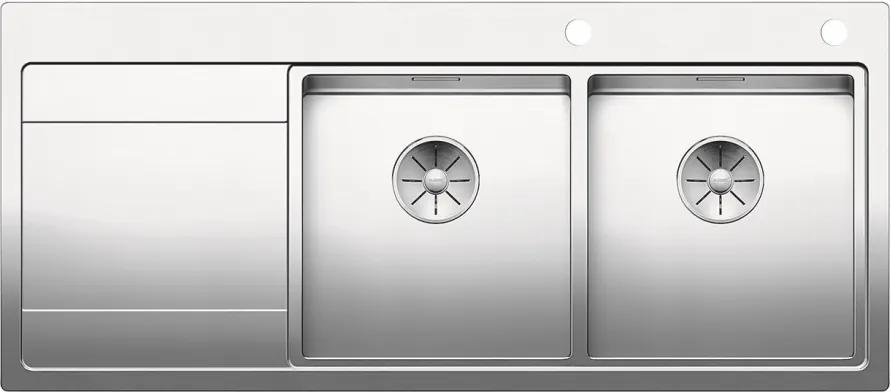 Nerezový kuchynský drez - Blanco DIVON II 8 S nerez hodvábny lesk s excentrom 521665