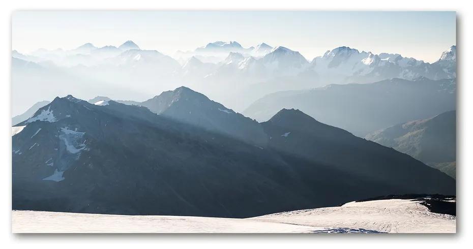 Foto obraz akrylový Horské vrcholy pl-oa-140x70-f-72501918