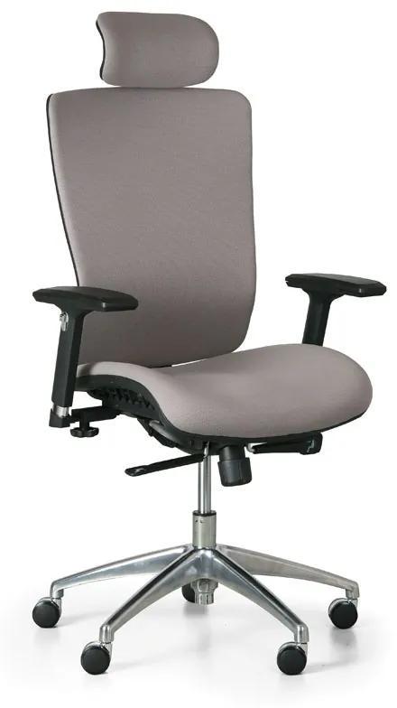 Kancelárska stolička Lester F, sivá