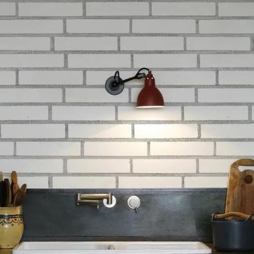 Kuchynská tapeta KitchenWalls - Stylish white bricks 1442 H