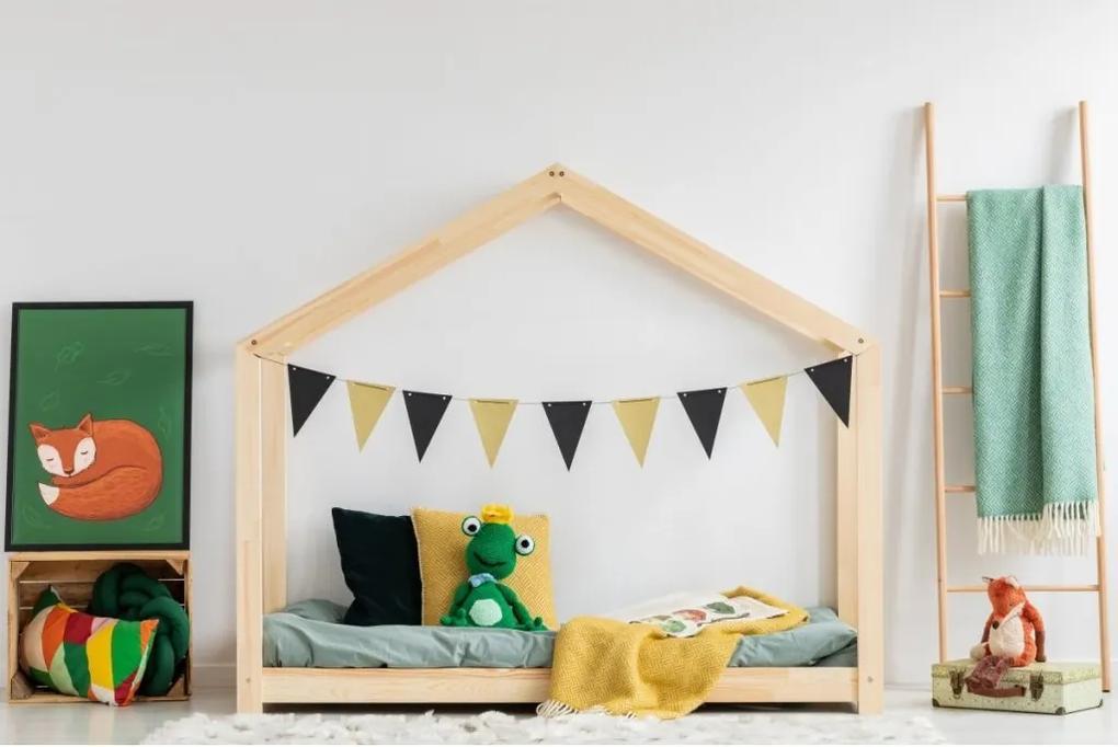 MAXMAX Detská posteľ z masívu DOMČEK - TYP C 200x90 cm 200x90 pre dievča|pre chlapca|pre všetkých NIE