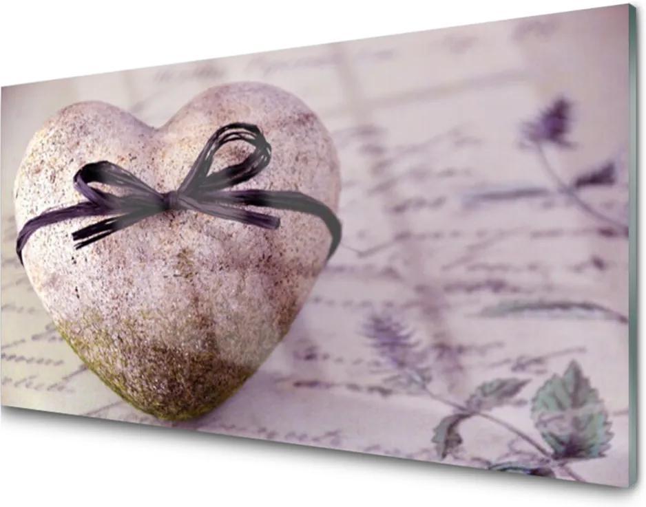 Obraz na akrylátovom skle Srdce Kameň Umenie