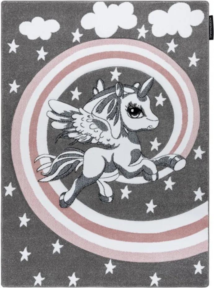 Detský kusový koberec Pony sivý, Velikosti 200x290cm