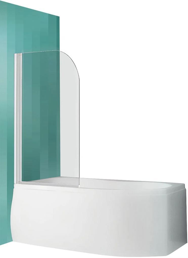 ROLTECHNIK Vaňová zástena obojstranne otvárateľná SCREEN PRO/810 biela/transparent 4000688