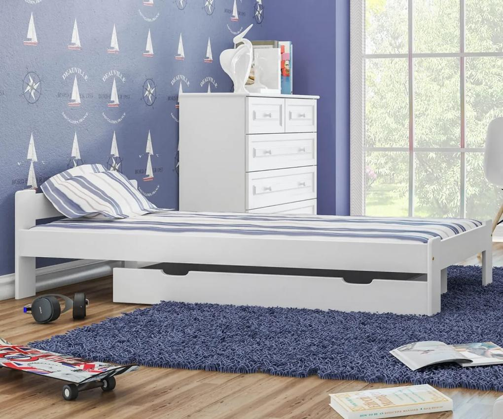 MAXI-DREW postel Anetka 80x200 masiv borovice bílá