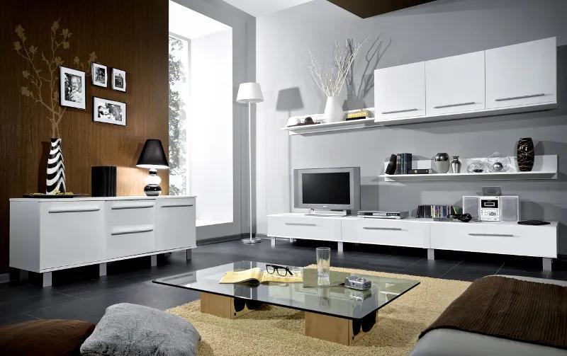 >> Biela obývacia stena MONICA