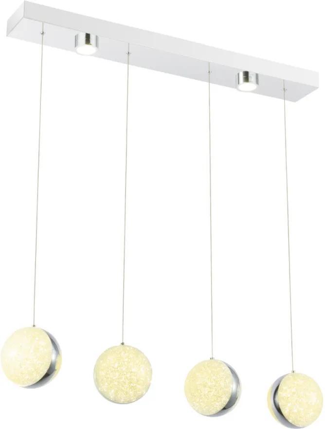 Globo 56007-4H LED Závesné Lampy TOBIAS chróm kov LED - 1 x 48W 3320lm 4000K IP20 A+