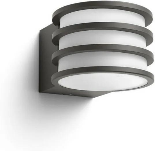 Hue White vonkajšie nástenné svietidlo Philips Lucca 17401/93 / P0 antracitovej, 2700K