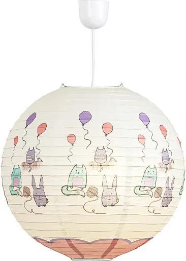 Rábalux 4632 Detské Závesné Lampy viacfarebné ružové - 40 x 40 cm