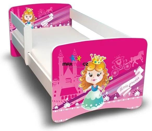 MAXMAX Detská posteľ 180x80 cm bez šuplíku - MALÁ PRINCEZNA II 180x80 pre dievča NIE