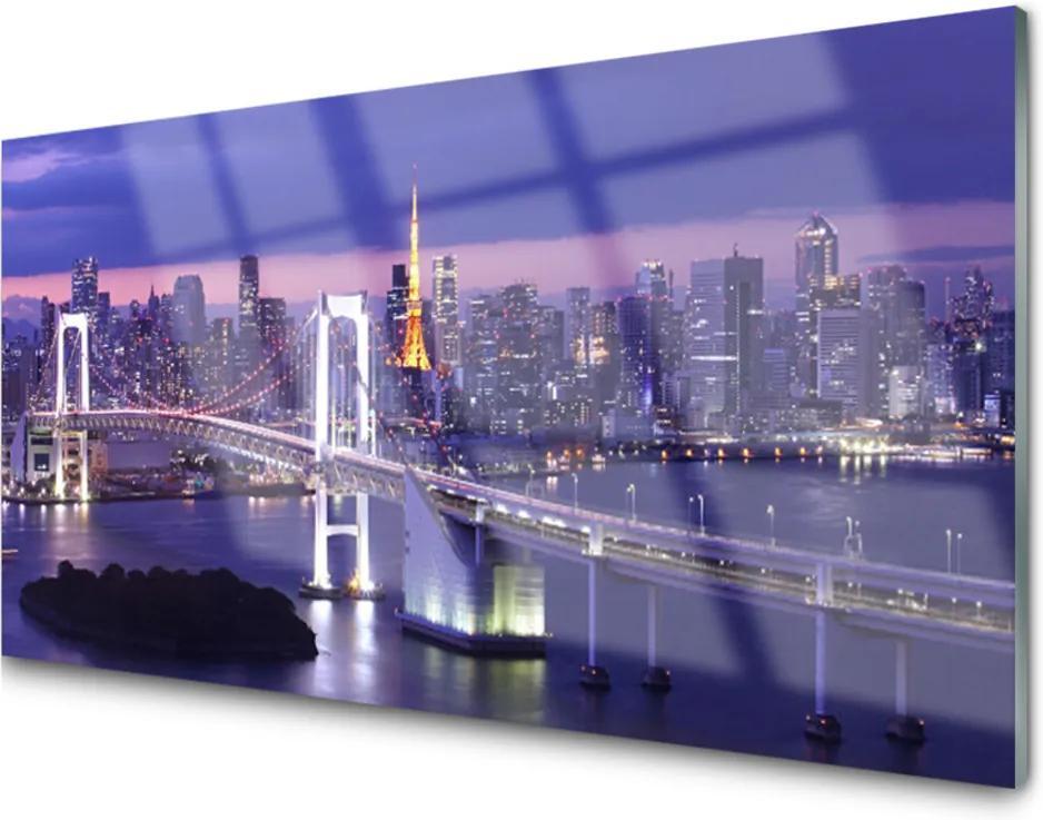 Plexisklo obraz Most město architektura