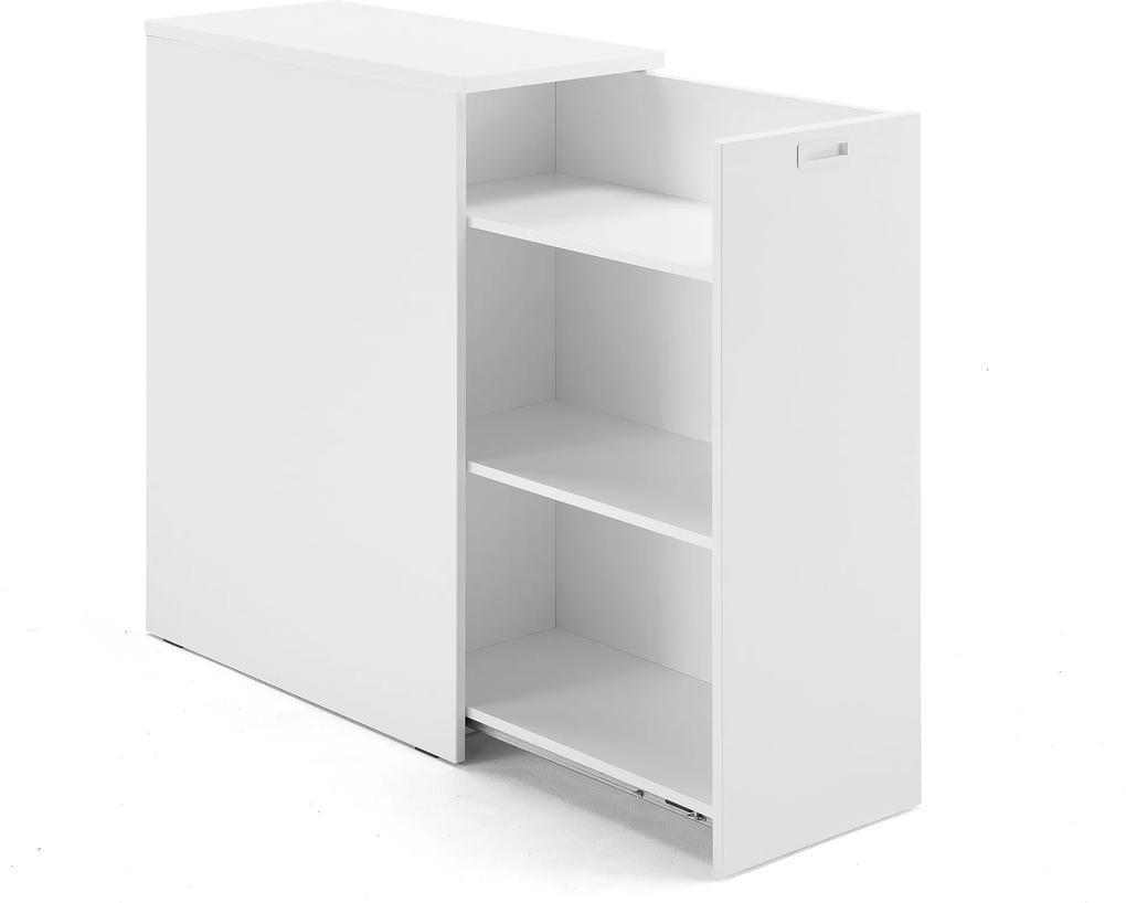 Bočná kancelárska skrinka Modulus, pravá, biela