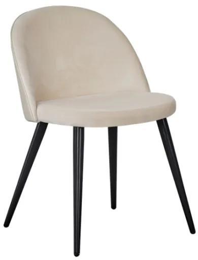 Velvet stolička béžová