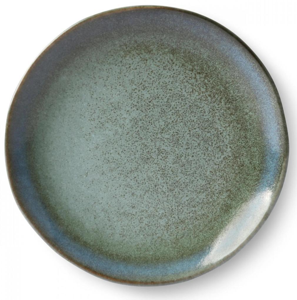 HK living Keramický tanier 70's Moss