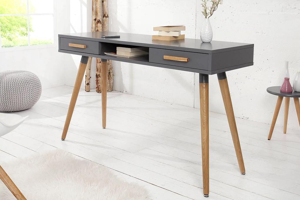 Dizajnový písací stôl Sweden grafitová