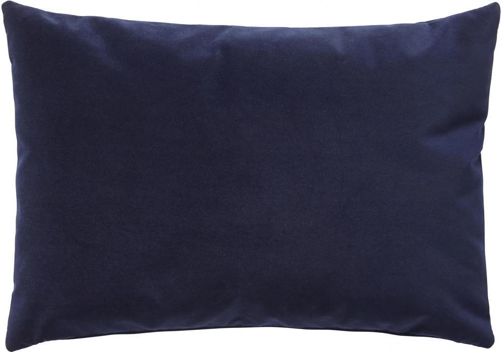 Hübsch Velúrový vankúš Soft Blue 60x40 cm