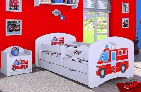 MAXMAX Detská posteľ so zásuvkou 180x90cm HASIČI