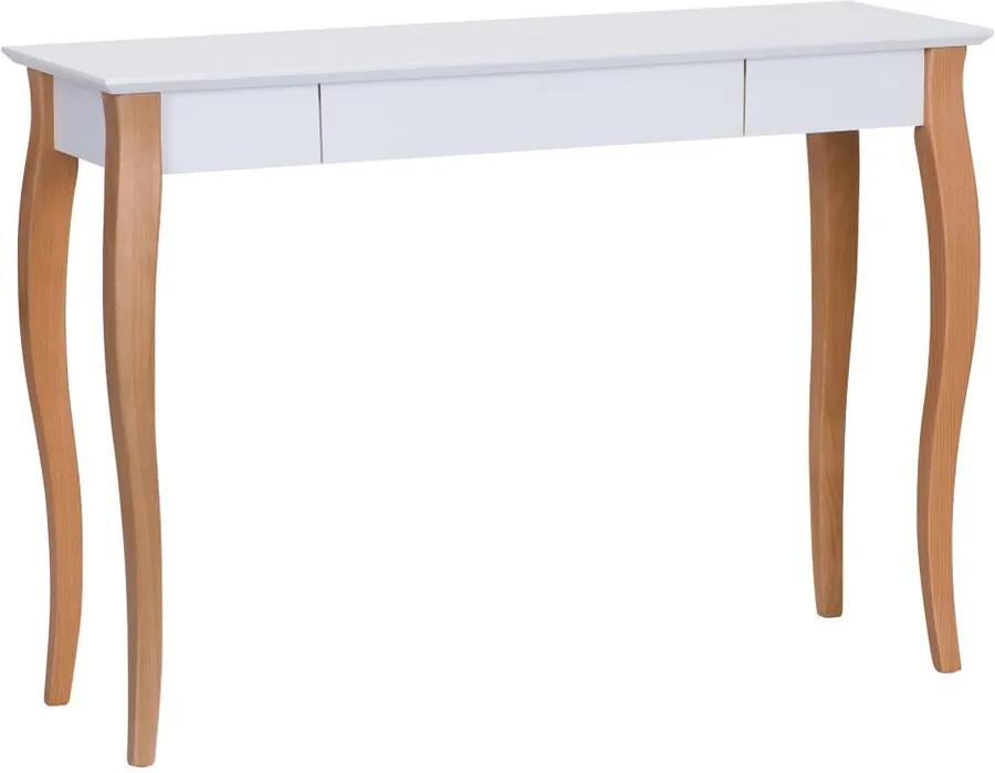 Biely písací stôl Ragaba Lillo, dĺžka 105 cm