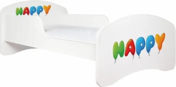 MAXMAX Detská posteľ bez šuplíku 180x90cm HAPPY + matrace ZADARMO! 180x90 pre dievča|pre chlapca|pre všetkých NIE