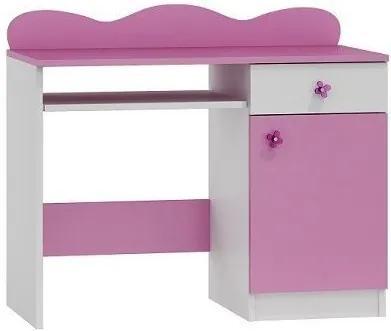MAXMAX Písací stôl FUNKY - TYP A pre dievča