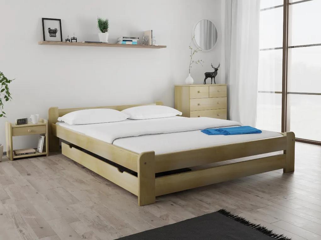 Maxi Drew Posteľ Emily 120 x 200 cm, borovica Rošt: s latkovým roštom, Matrac: s matracom Economy 10 cm