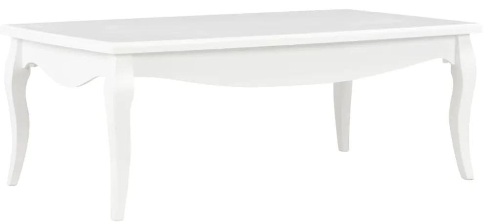 vidaXL Konferenčný stolík, biely 110x60x40 cm, borovicový masív