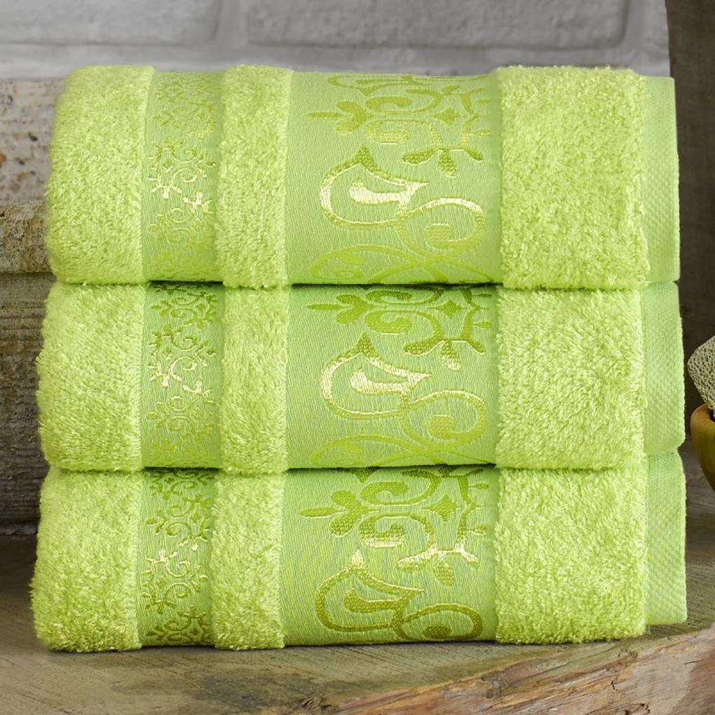 XPOSE ® Bambusový ručník CATANIA - limetková 50x90 cm