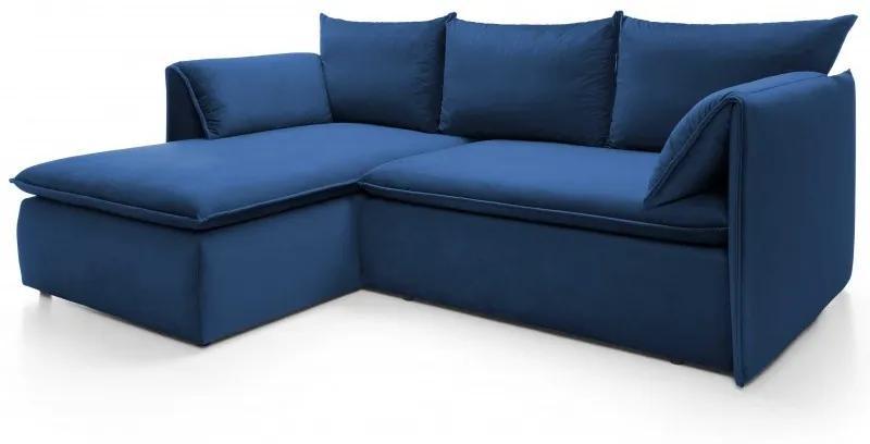 Hector Rohová rozkládací pohovka Gold modrá levá