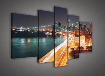 Obraz na plátne viacdielny - OB2344 - Mesto zrýchlené 170cm x 100cm - S4A