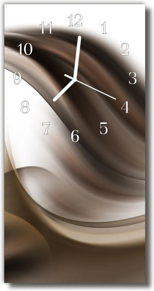 Nástěnné hodiny vertikální Art abstrakce umělecká díla béžová