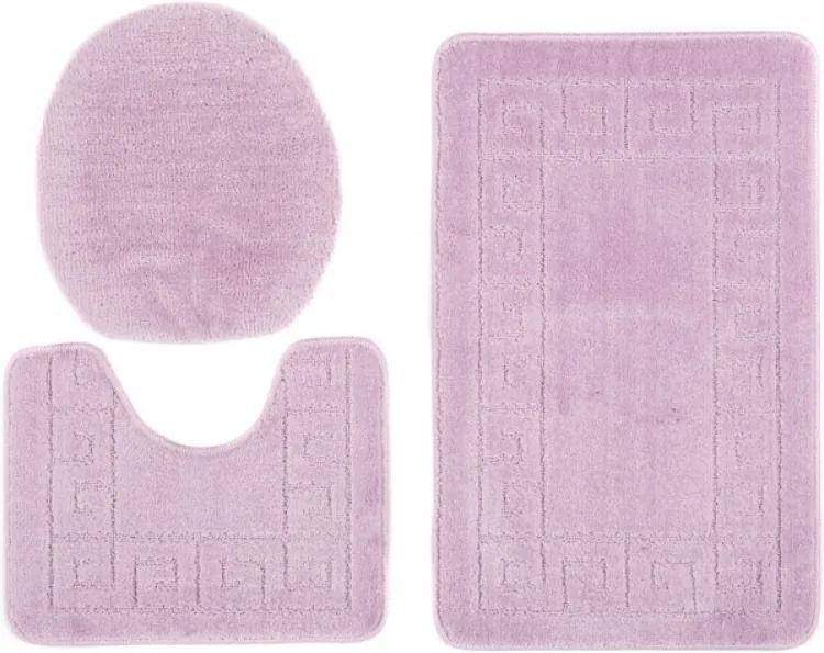 Kúpeľňové predložky 1030 fialové 3Ks, Velikosti 50x80cm
