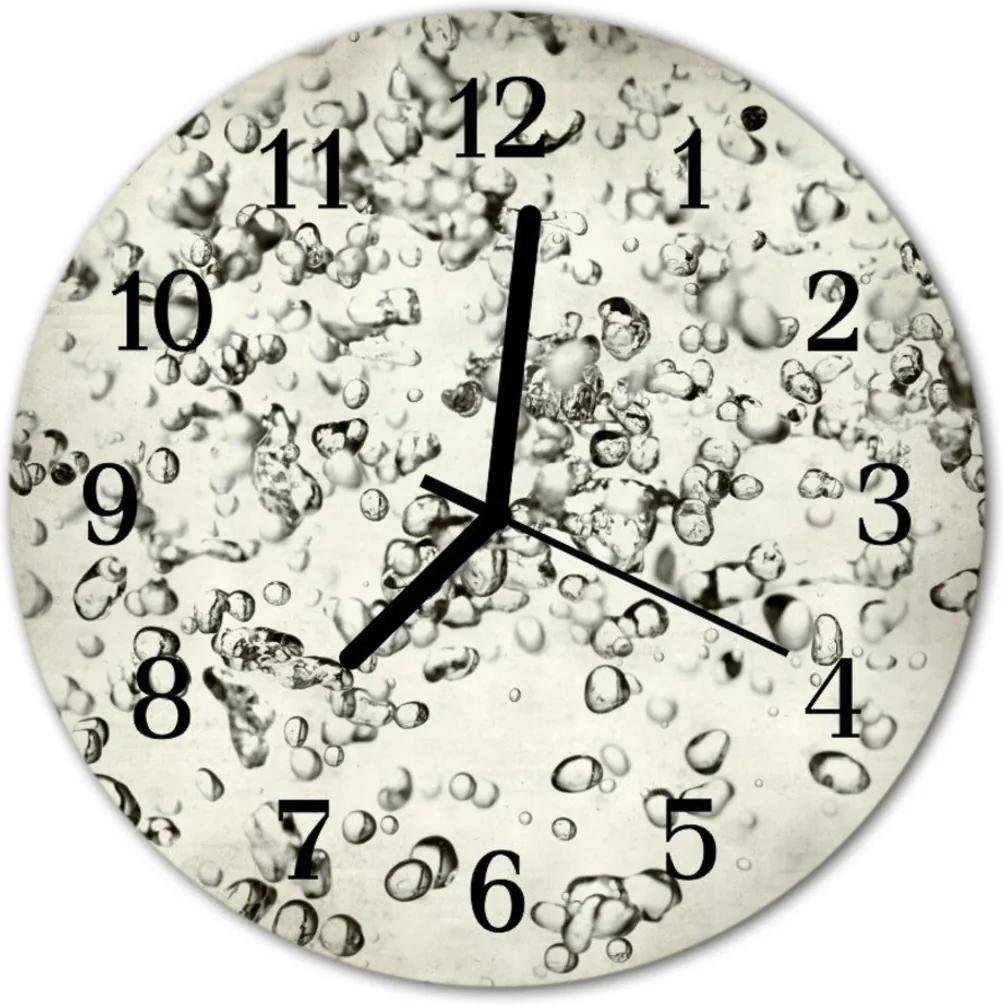 Nástenné sklenené hodiny  kvapky