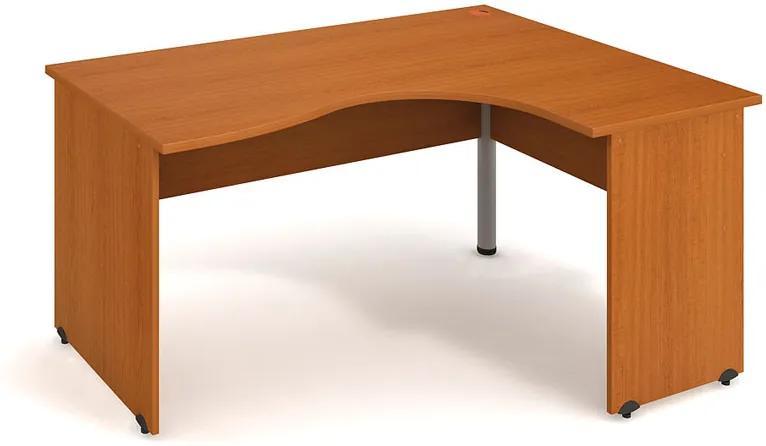 Stôl ergo ľavý, 1600 x 1200 x 755 mm, buk