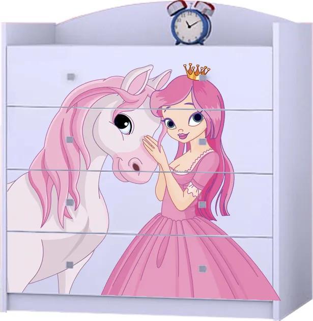 OR Komoda Mery K06 Motív: I - Princezna s koníkom