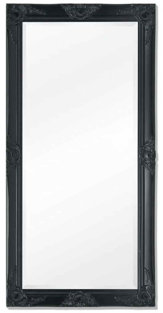 vidaXL Nástenné zrkadlo v barokovom štýle, 120x60 cm, čierne
