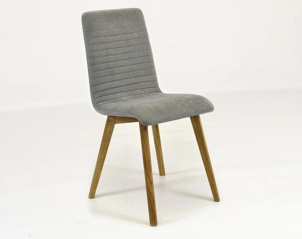 3d108e64aae3 Moderná dubová sivá stolička