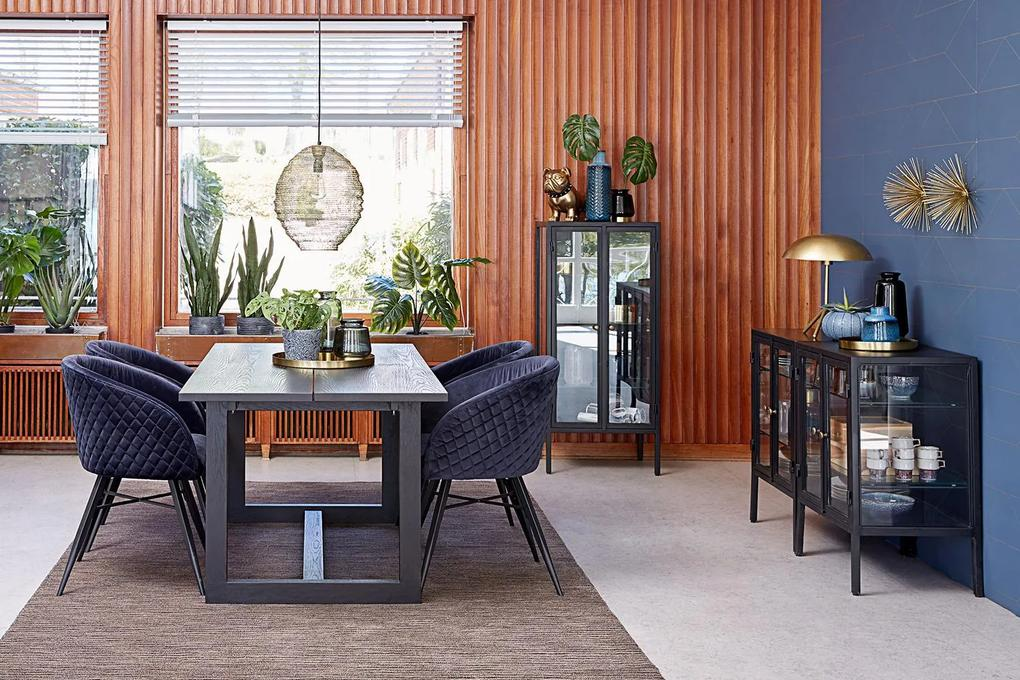 Jedálenský stôl Bily čierny 170 cm