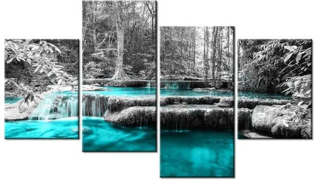 Tlačený obraz Modrý vodopád v džungli 120x70cm 2535A_4Z