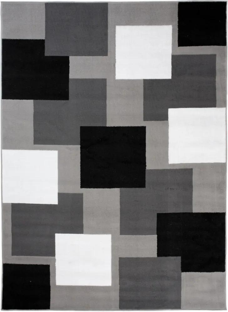 Kusový koberec PP Kvadrat sivý, Velikosti 180x250cm
