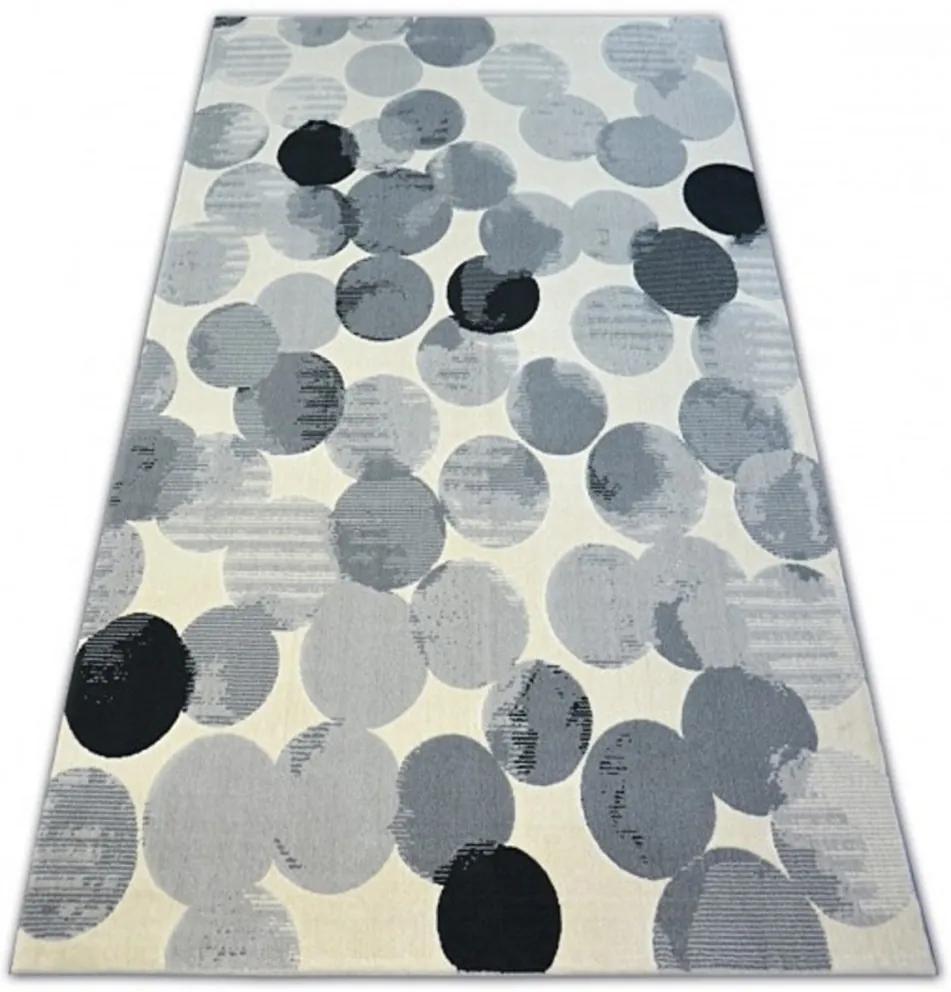 Kusový koberec PP Kolieska sivý, Velikosti 120x170cm