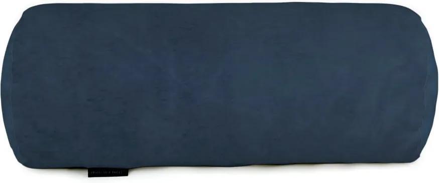 Námornicky modrý dekoratívny vankúš Velvet Atelier, 50 × 20 cm