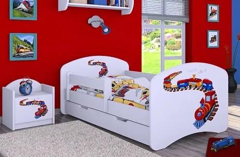 MAXMAX Detská posteľ so zásuvkou 180x90cm MAŠINKA